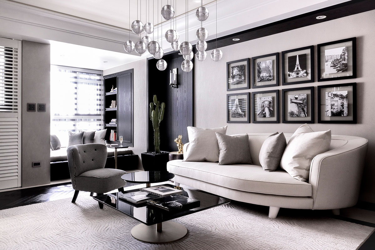 Interior design idea 08 new york new york elegant for Black in interior design
